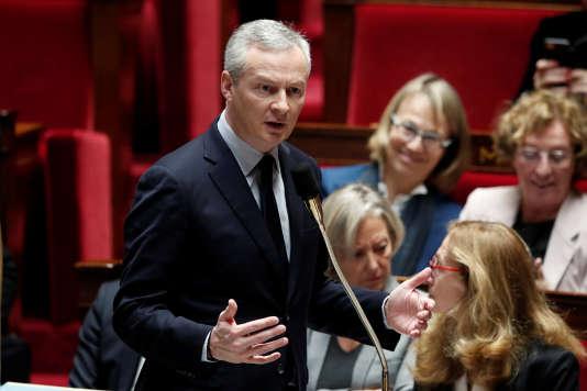 Le ministre des finances, Bruno Le Maire, à l'Assemblée nationale le 13 décembre.
