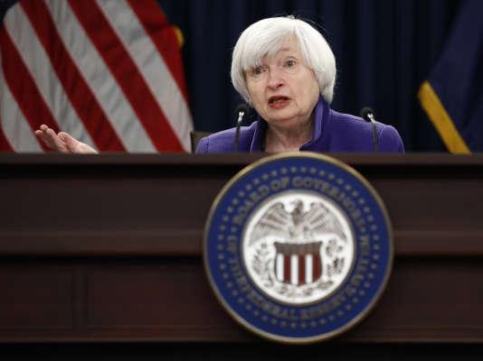 La présidente de la Fed, Janet Yellen, à Washington, le 13 décembre.