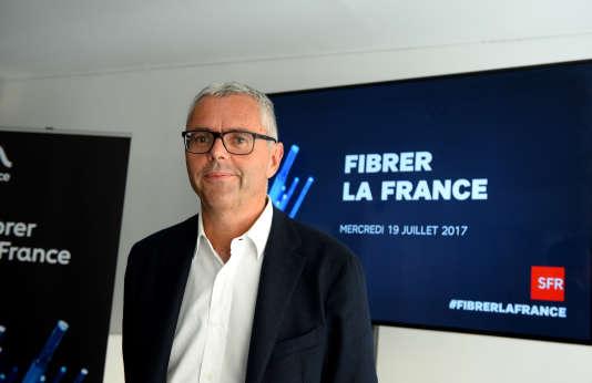 """Michel Combes, ancien dirigeant de SFR Group, avait annoncé un plan pour« """"fibrer"""" la France» au mois de juillet 2017."""