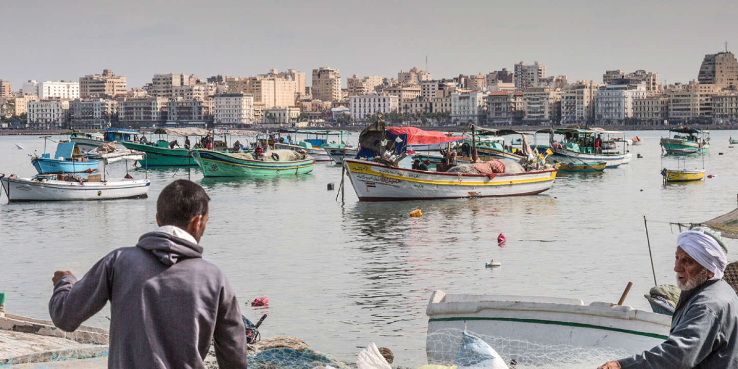 Fisherman prepare to launch their small boat on Alexandria's corniche, November 24, 2017. Alexandria's famous Mediterranean port has been a harbour for fisherman throughout the centuries as a gateway between Europe and Africa.