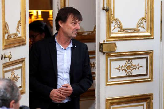 Nicolas Hulot, ministre de la transition écologique et solidaire, à Paris, le 13 décembre.