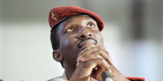 Le capitaine Thomas Sankara, président du Burkina Faso, au sommet des non-alignés, à Harare, au Zimbabwe, en septembre 1986.