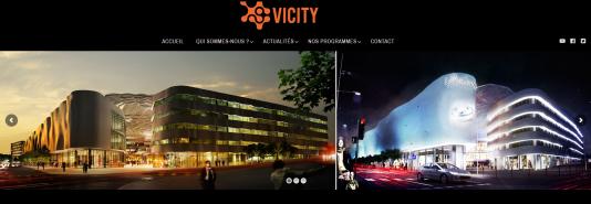 Capture d'écran du site du promoteur lillois Vicity, à l'origine du projet Lillenium.
