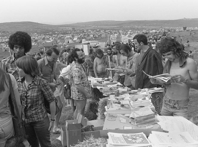 Sur le plateau du Larzac, en 1977.