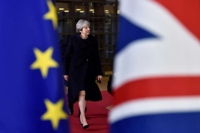 La première ministre britannique, Theresa May, à Bruxelles le 14 décembre.