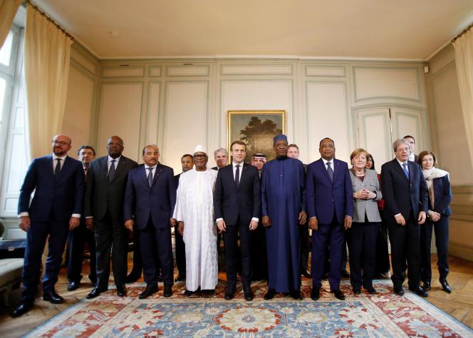 Rencontre du G5 Sahel à La Celle-Saint-Cloud, le 13 décembre.