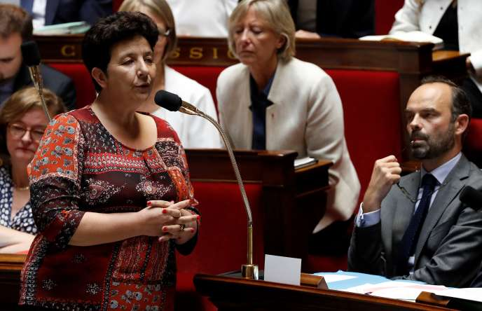 La ministre de l'enseignement supérieur, Frédérique Vidal, devant l'Assemblée nationale, le 19 juillet 2017.