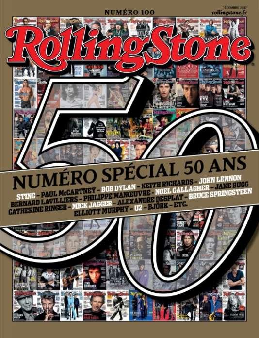 Le numéro 100 « spécial 50 ans» de l'édition française du magazine «Rolling Stone».