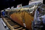 Les restes d'un missile que les Etats-Unis considèrent comme la preuve« irréfutable» de l'aide apportée par l'Iran aux rebelles houthistes du Yémen.