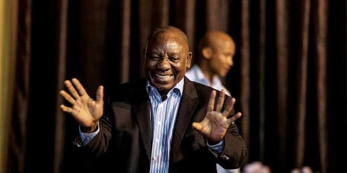 Vice-président d'Afrique du Sud, Cyril Ramaphosa, ici à Johannesburg le 13 novembre 2017, est candidat à la tête de l'ANC.