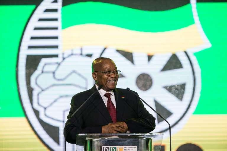 Le président d'Afrique du Sud Jacob Zuma à Johannesbourg le 15 décembre.