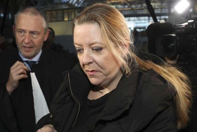 Virginie Faux, l'une des deux plaignantes au tribunal de Bobigny, le 12 décembre.