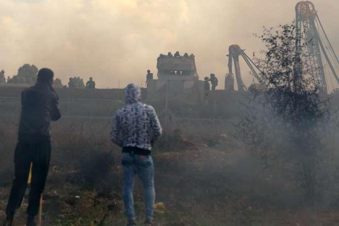 A l'est de Gaza City, le 15 décembre.