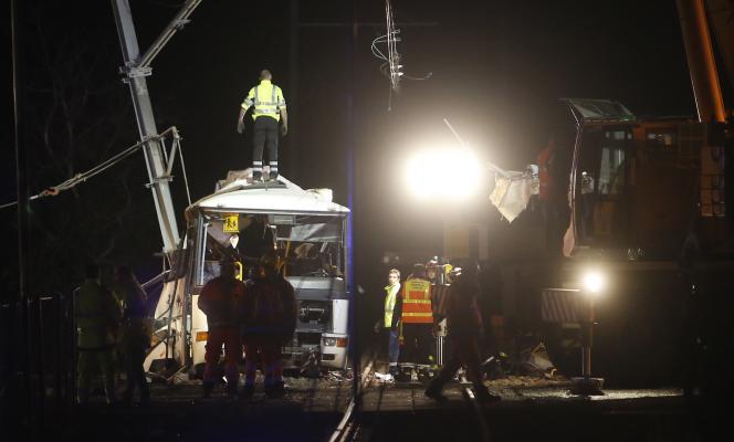 Le site de l'accident de Millas, le 14 décembre 2017.