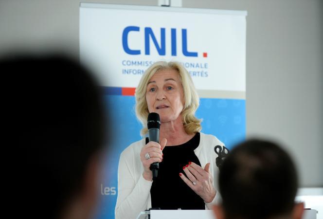 Isabelle Falque-Pierrotin, la présidente de la CNIL, le 27 mars 2017.