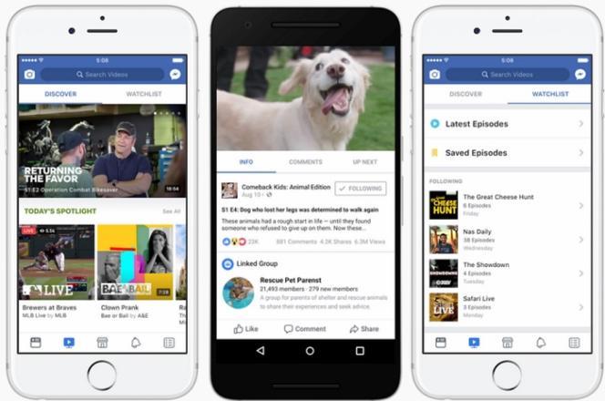 Watch, une nouvelle plateforme pour les videos sur Facebook.