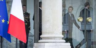 Emmanuel Macron et Edouard Philippe, premier ministre, à l'Elysée, le 18 mai.