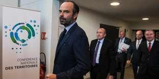 Le premier ministre, Edouard Philippe, le 14 décembre, pendant la conférence des territoires à Cahors.