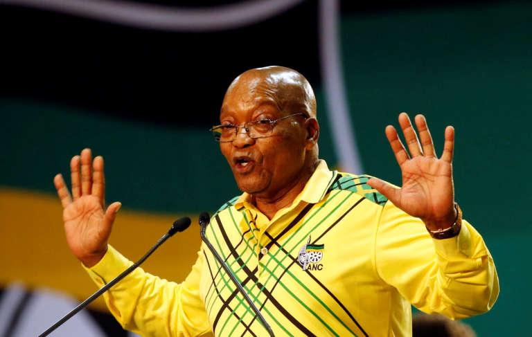 Le président sud-africain et président sortant de l'ANC, Jacob Zuma, à Johannesbourg (Afrique du Sud),le 16 décembre.
