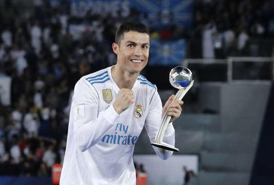 Le joueur portugais Cristiano Ronaldo, après la finale de la Coupe du monde des clubs remportée par le Real Madrid (son club), le 16décembre, à Abou Dhabi (Emirats arabes unis).