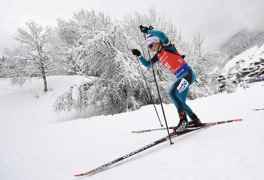 Justine Braisaz au Grand-Bornand, en Haute-Savoie, le 16 décembre.