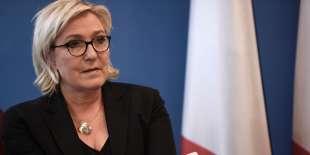 La présidente du Front national, Marine Le Pen, à Nanterre (Hauts-de-Seine), le 8 décembre.