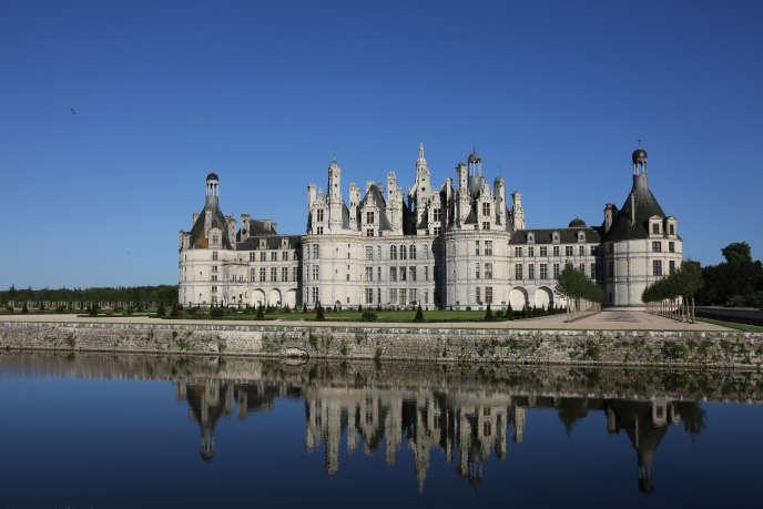 Vue du château de Chambord, en juin 2017.