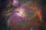 La nébuleuse d'Orion vue par le télescope spatial Hubble.