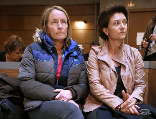 Les deux anciennes joueuses de tennis, Isabelle Demongeot et Laurence Allary, au tribunal de Draguignan (Var), en novembre 2012.