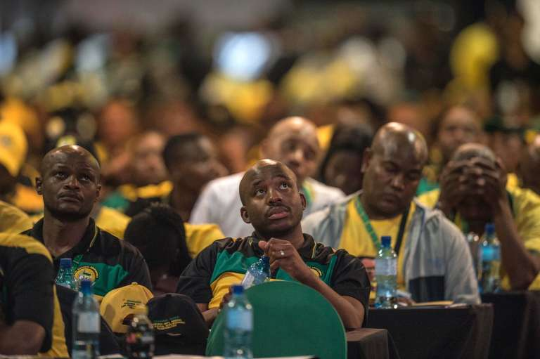 Conférence élective de l'ANC, à Johannesbourg (Afrique du Sud),le 16 décembre.