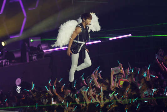 Le chanteur coréen Jonghyun en concert à Hongkong en octobre 2012.