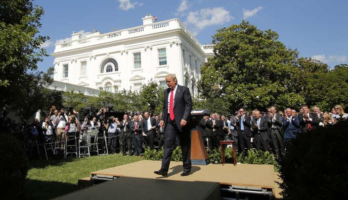 Le présidentDonald Trumpa annoncé le 1erjuin une sortie des Etats-Unis del'accord de Paris sur le climat.