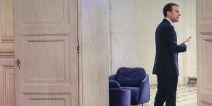 Emmanuel Macron, lors d'un entretien sur France 2, recueilli le 12décembre à l'Elysée.