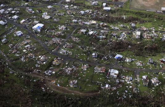 A Porto Rico, le 28 septembre après le passage de l'ouragan Maria.