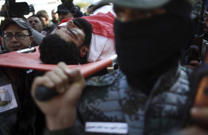 Funérailles d'Ibrahim Abou Thouraïa, à Gaza, le 16 décembre.