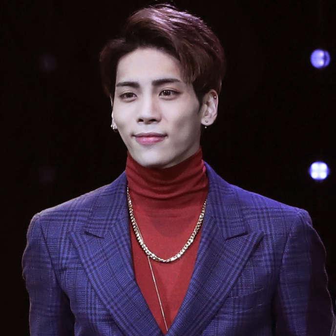 Le chanteur coréen Jonghyun en octobre 2016.