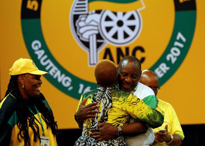 Cyril Ramaphosa, au congrès de l'ANC, le 18 décembre, à Johannesburg.