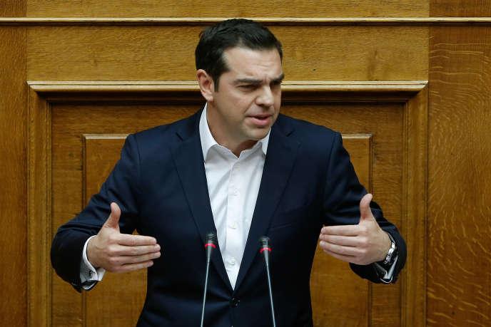 Le premier ministre grec Alexis Tsipras lors d'une session parlementaire, avant le vote du budget à Athènes, le19 décembre 2017.