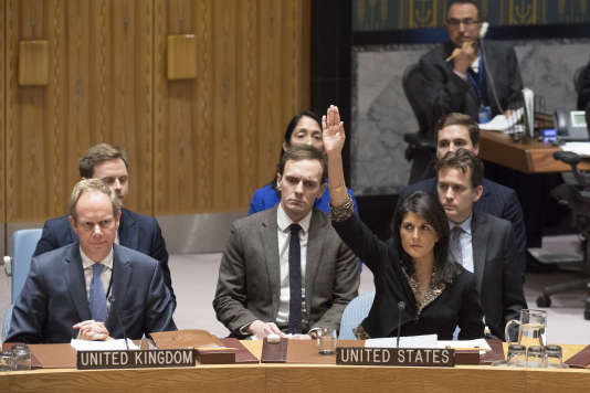 L'ambassadrice américaine aux Nations Unies, Nikki Haley.
