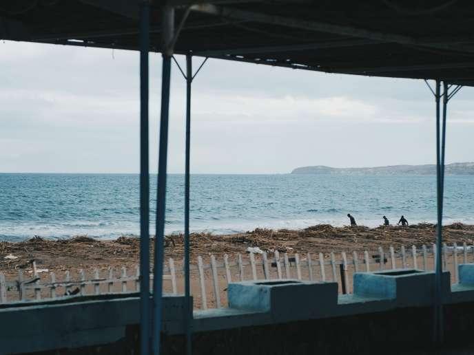 La plage des Andalouses, à l'ouest d'Oran, le 12décembre.