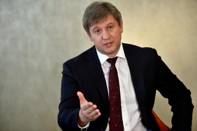 Oleksandr Danylyuk, le ministreukrainien des finances , à Londres, le 5 juillet.