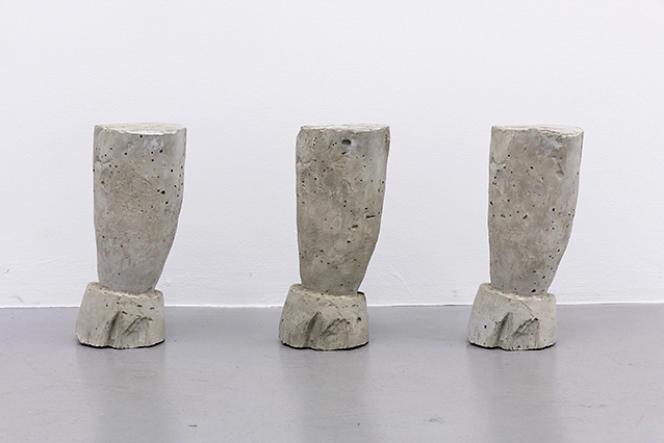 «Trinité de calice», 2016, uneœuvre d'Edgar Sarin.