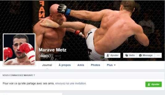 Capture d'écran d'une page Facebook Marave Metz, supprimée depuis.