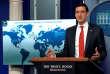 Le conseiller à la cybersécurité de Donald Trump, Tom Bossert, en conférence de presse.