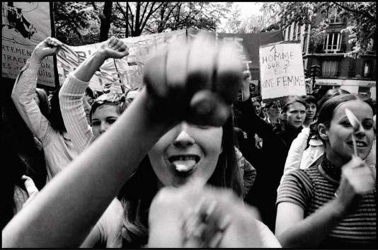 Manifestation du Mouvement de libération des femmes (MLF), à Paris, en 1971.