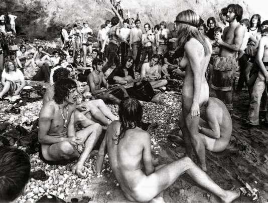 Festival de l'île de Wight (Royaume-Uni), en 1970.