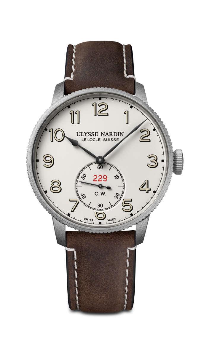 Ulysse Nardin Marine Torpilleur Military, hommage aux chronomètres de pont, Ulysse Nardin.