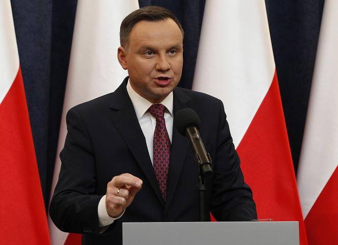Le président polonais Andzrej Duda, à Varsovie, le 20 décembre 2017.