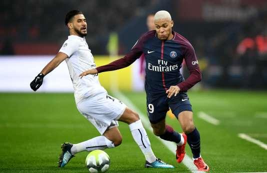 L'attaquant du PSG Kylian M'Bappé, face à Caen, le 20 décembre.