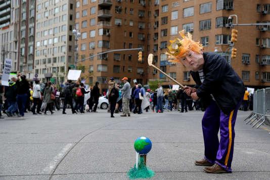 Lors de la Marche pour les sciences, à New York, le 22 avril.
